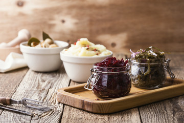 Healthy vegetarian plant-based meal
