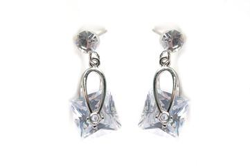 Jewelry pendant on a white isolated background. Jewelery, jewelry. Pendant, earrings, necklace, bezel.