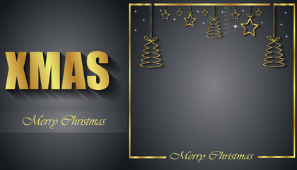 2019 Merry Christmas seasonal background for your invitations, festive posters, greetings cards.