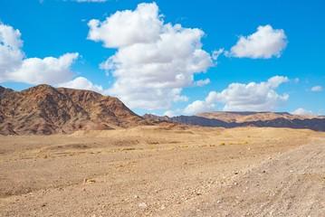 Israeli Negev desert sand and rocks near Eilat