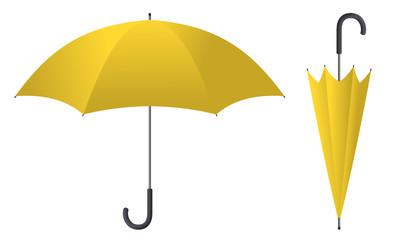 Obraz umbrella yellow 2 - fototapety do salonu