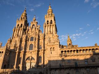 In de dag Monument Catedral de Santiago de Compostela en Galicia, España, vacaciones de 2018