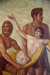 Iphigenia sacrifice. Ancient Pompeii fresco