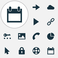 User icons set with lifeguard, privacy, forward and other ahead