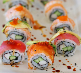 Recess Fitting Sushi bar japanese food california sushi rolls