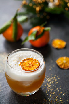 Christmas cocktail of amaretto sour