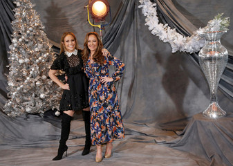 "Cast members Lopez and Remini pose at a photo call for the film ""Second Act"" in Los Angeles"