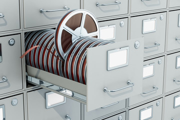 Cinema Archive concept, 3D rendering