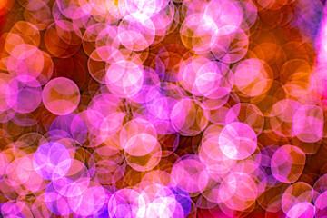 Colorful pink Bokeh Blur Background