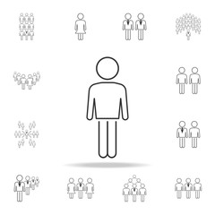 human icon. Detailed set of people in work icons. Premium graphic design. One of the collection icons for websites, web design, mobile app