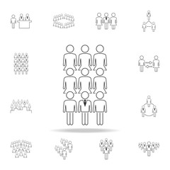 business man in female team icon. Detailed set of people in work icons. Premium graphic design. One of the collection icons for websites, web design, mobile app