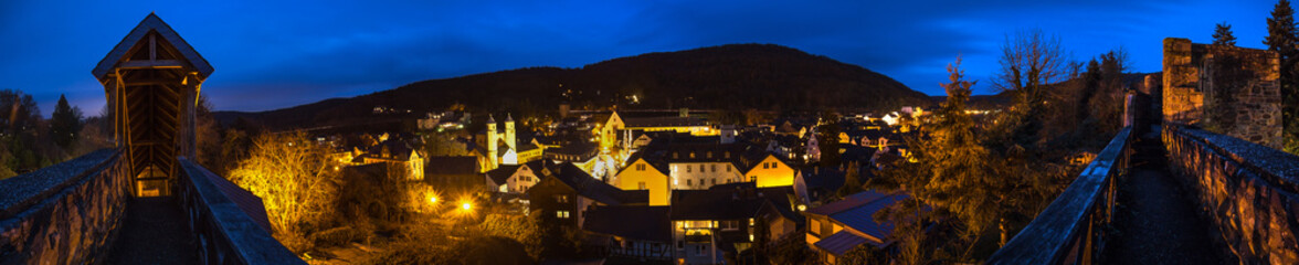 historic town bad muenstereifel germany in the evening high definition panorama