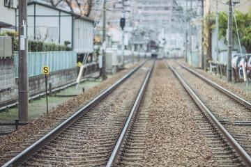 電車の線路風景