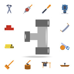 color pipe icon. Detailed set of color construction tools. Premium graphic design. One of the collection icons for websites, web design, mobile app