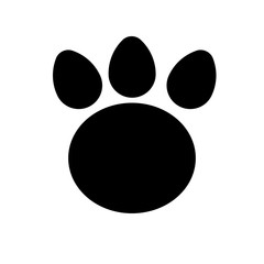 Illustrations of animal paw print silhouette