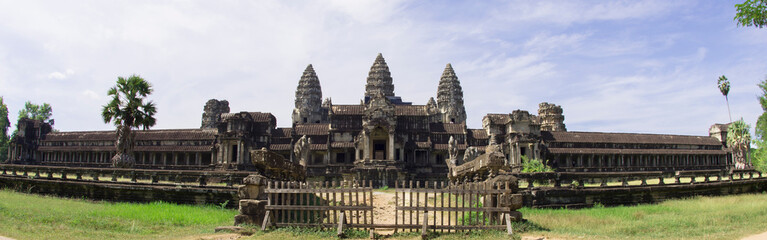 Front of Angkor Wat temple under cloudscape, Siem Reap,Cambodia