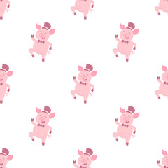 pig seamless pattern