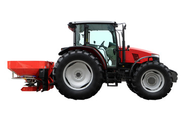 tractor image with attachments for application of fertilizers.