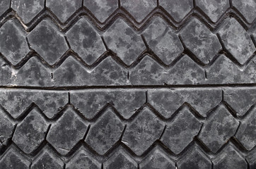 Wheel tyre texture background.