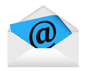 E-Mail symbolisch im Briefumschlag