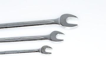 drei verschiedene Gabelschlüssel