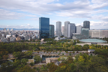 cityscape of the osaka japan