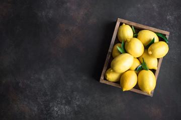 Lemons in box