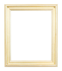Brown frame isolated on white background.