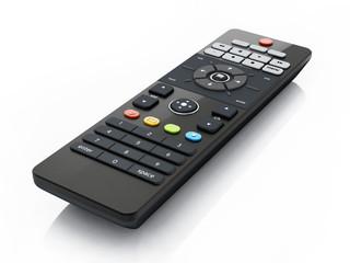 Fototapeta Generic remote controller isolated on white background. 3D illustration obraz