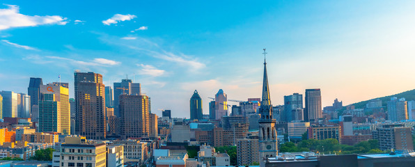 Montreal, Canada: City Skyline aerial view