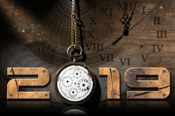 2019 New Year - Old Broken Pocket Watch