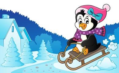 Sledging penguin theme image 6