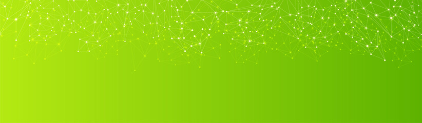 Green global communication banner with abstract network. Wall mural
