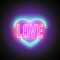 neon signboard heart love2