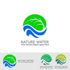 green leaf and fresh water logo