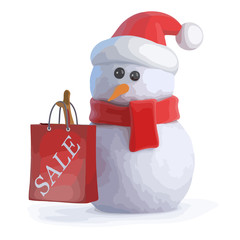 3d Santa snowman has been to the sales