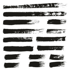 Paint Brush Thin Lines High Detail Abstract Vector Background Set 159