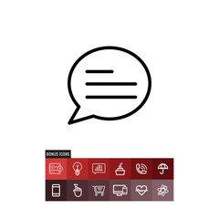 Message vector icon