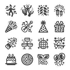 party icon set,vector and illustration