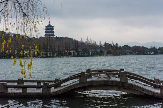 The Leifeng Pagoda of the West Lake, Hangzhou, China