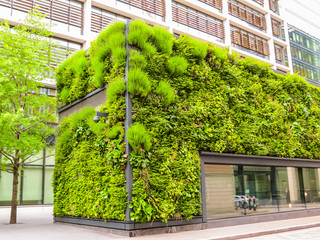 Foto op Canvas Centraal Europa Ecological architecture, green living facade of the building