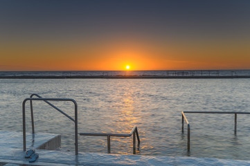 Newcastle Baths at Sunrise