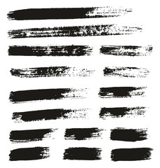 Paint Brush Thin Lines High Detail Abstract Vector Background Set 148
