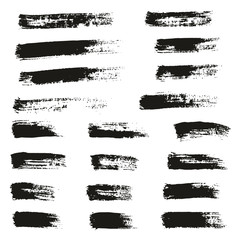 Paint Brush Thin Lines High Detail Abstract Vector Background Set 120