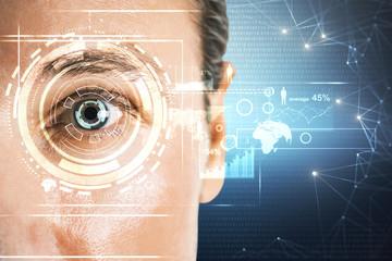 Biometrics and futuristic concept