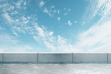 Fototapete - Rooftop with sky backdrop