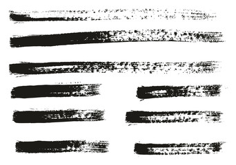 Paint Brush Thin Lines High Detail Abstract Vector Background Set 93