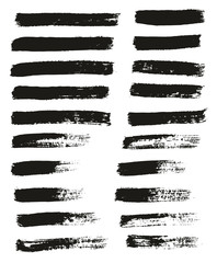 Paint Brush Thin Lines High Detail Abstract Vector Background Set 74