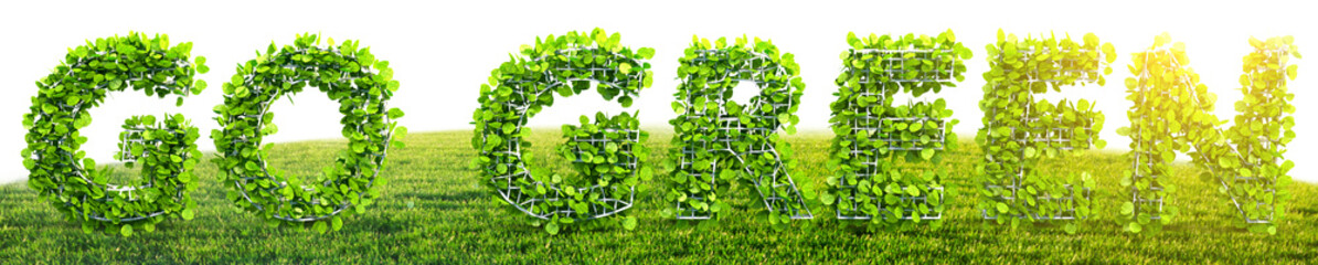 go green 3D illustration
