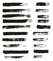 Paint Brush Thin Lines High Detail Abstract Vector Background Set 62